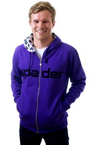 Image of Men's Purple Zip Hoody