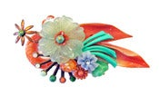 Image of Vintage Plastic Flower Pendant Brooch by Joli Jewelry