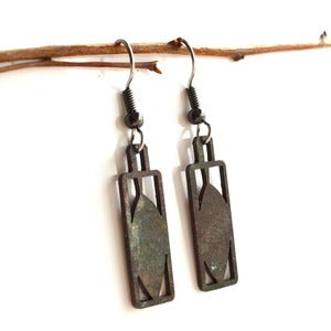 Image of Leaf Earrings - open design