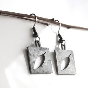 Image of Square Leaf Earrings