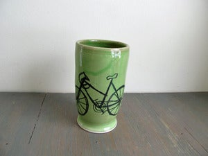 Image of Green Bike Tumbler