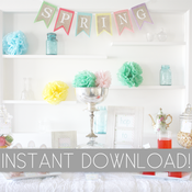 Image of Easter Party Printables