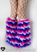 Image of Zig Zag fluffies in blue pink white