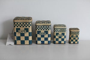 Image of 1930s french kitchen storage containers