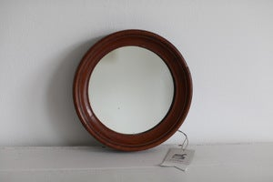 Image of 1850s small round mirror