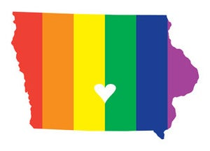 Image of Iowa Pride Postcard/Print by Joseph Hughes