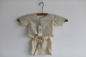 Image of 1930s woollen baby outfit