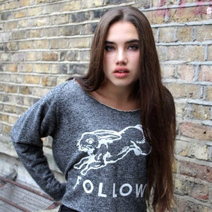 Image of FOLLOW raw cropped sweatshirt