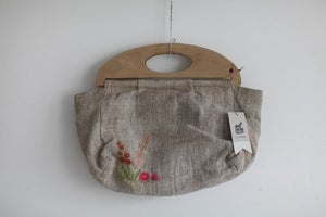 Image of 1940s embroidered knitting bag