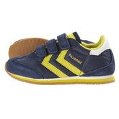 Image of HUMMEL stadion velcro kids low, dress blue/blazing yellow
