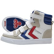Image of HUMMEL stadil jr. velcro high, white/blue/red/gum
