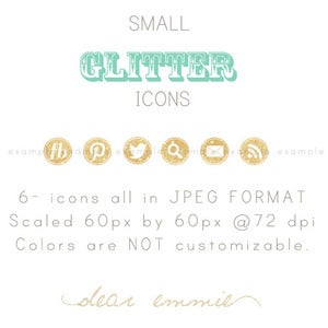 Image of small GLITTER icons
