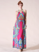 Image of Peace Print Halter Maxi Dress