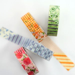 Image of Country Flower Garden Washi Tape