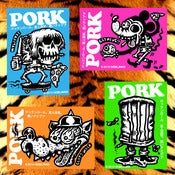 Image of PORK STICKERS, BUTTONS & PORK POSTCARDS!!!