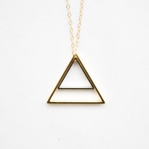 Image of Gold &amp; Silver Nested Triangles