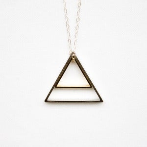 Image of Silver & Gold Nested Triangles