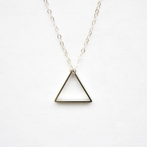 Image of Dainty Silver Triangle