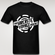 Image of Shirt 5 - Sarcastic Voyage logo - B&W - no hosts