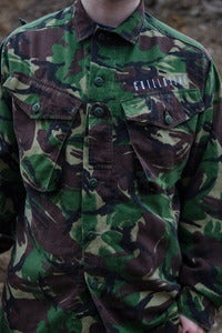 Image of Upcycled Camo Shirt Jacket