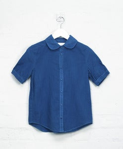 Image of Organic Indigo Short Sleeve Shirt