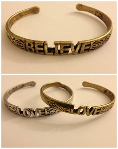 Image of Believe/Love Bracelet
