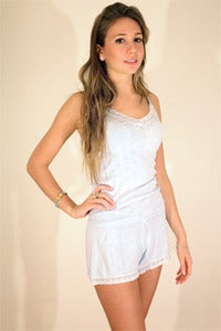 Image of Hearts Pointelle Knit ~ Camisole w Hearts Lace