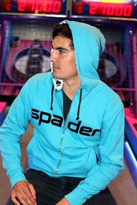 Image of Men's Turquoise Zip Hoody