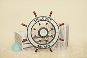 Image of Welcome Aboard Boat Wheel - Beach Boat Nautical Prop - NEW