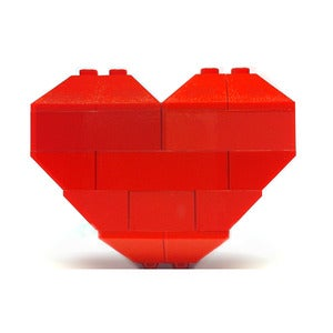 Image of ♥ Original Hearts of Bricks Brooch