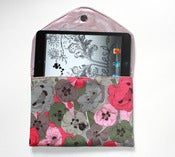 Image of Pink poppies Lolie - Luxurious iPad Mini case - Only one