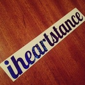 Image of *NEW* iheartstance *BLUE* sparkle decal