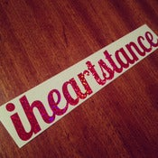 Image of *NEW* iheartstance *BRIGHT PINK* sparkle decal