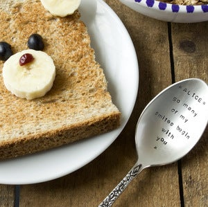 Image of Personalised Dessert Spoon (up to 15 words)