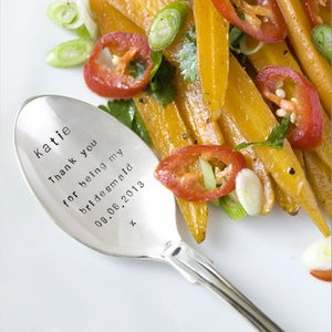 Image of Personalised Serving Spoon (up to 15 words)