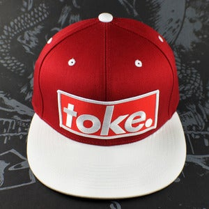 Image of Toke - Logo Red & White - Snapbacks