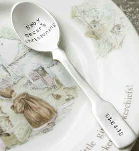 Image of Personalised Silver Plated Fiddle Spoon