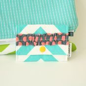 Image of tiny pouch - turquoise chevron 