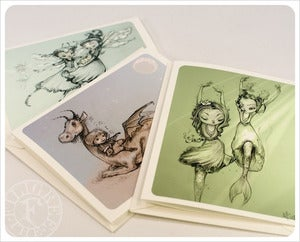Image of 3 Art Cards by the Filigree