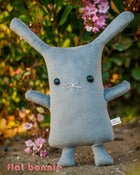 "Image of Flat Bonnie Bunny Plush - Rex Gray (Classic 12"") Handmade"