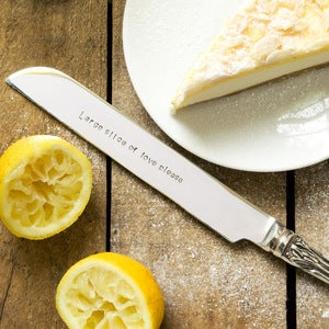 Image of Personalised Silver Plated Cake Knife (up to 15 words)
