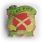 Image of Clay Pipe Music Enamel Badge - Pipes Design.