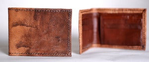 Image of Iguana Skin Bi-fold Wallet
