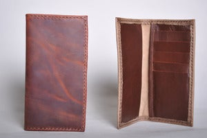 Image of Leather Checkbook Wallet