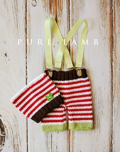 Image of Stripy Suspender Pants & Hat Set