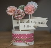 Image of Fabric table favours