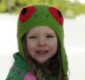 Image of Red Eyed Tree Frog Hat Crochet Pattern PDF 122