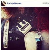 Image of WITH LOGO - Céline my phone Headphone Plug - black/white