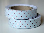 "Image of Fabric Tape ""Blue dots"""