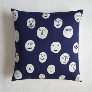 Image of Masks cushion - navy